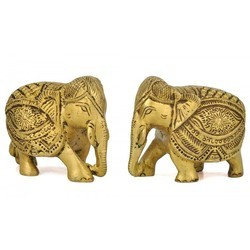 Elephant Pair Showpiece 2 Inches