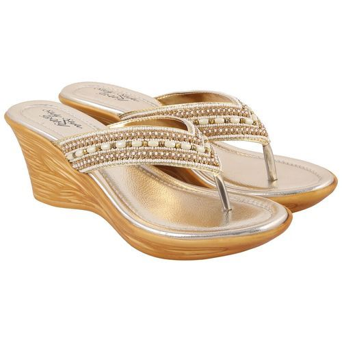 977faac961f Ladies Gold Sandals
