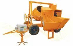 VKI Drum 2 Bin Concrete Mixer With Digital Weigh Batcher