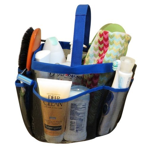 8 Pocket Imported Shower Caddy Quick Dry Hanging Toiletry and Bath ...