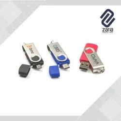 Customize Metal Clip Twister Pen Drive