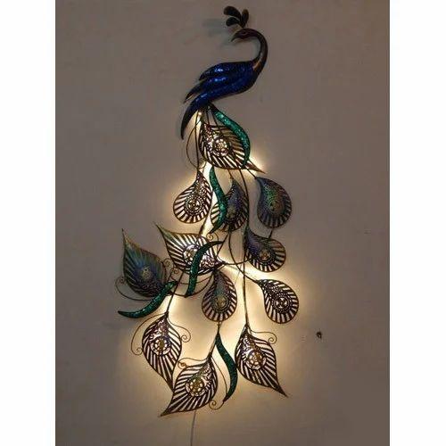 Navika Art Craft Iron Peacock Design Wall Decor Rs 1500 Piece