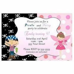 Paper Invitation Card Printing Service