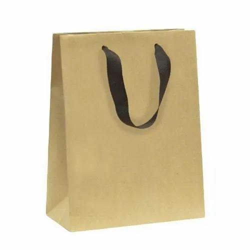 Brown Loop Handle Paper Shopping Bags, Capacity: 1- 5 Kg, Packaging Type: Packet