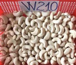 Raw White W210 Cashew Nut, Packaging Size: 10 kg