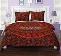 Maroon Elephant Cotton Duvet Quilt Doona Cover