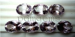 Pink Amethyst Faceted Oval Gemstone