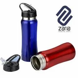 Aluminum And Stainless Steel Curved Sipper Bottle With Straw