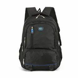 Plain Black Backpack School Bag