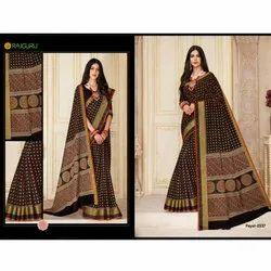 Sandhya Chiffon Payal-2537 Rajguru Ladies Sarees, 6 M (with Blouse Piece)