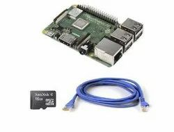 Raspberry Pi  Model B Plus Motherboard With 16 GB SD Card and Ethernet Cable