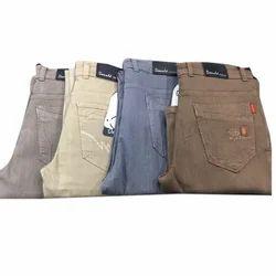 Mens Cotton Plain Stretchable Jeans