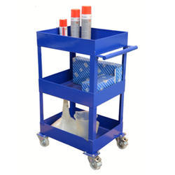 Blue Stainless Steel Spare Parts Trolley