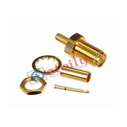 SMA Female B/h Rg 316 Gold Plated Connector