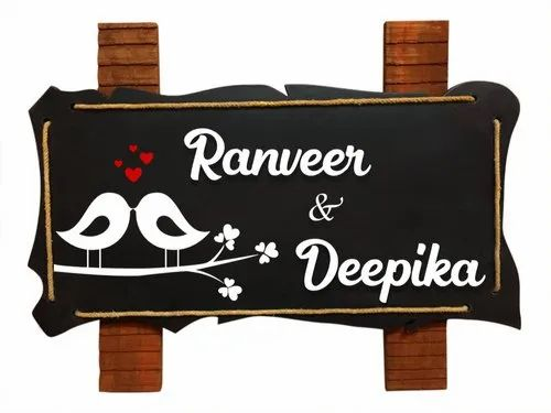 Karigaari India Wooden Name Plate I Customized Name Plate