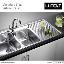 Stainless Steel Lucent SS Kitchen Sink, Shape: Rectangular, Packaging Type: Carton