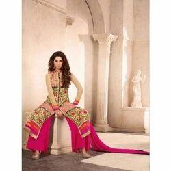 Casual Wear Velvet Pakistani Plazo Suits