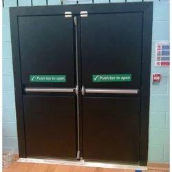 Galvanized Iron Auditorium Steel Door, Thickness: 46 mm