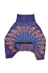 Indian Blue Peacock Harem Yoga Pant