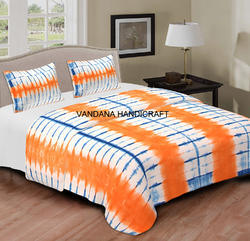 Indian Shibori Print Bed Cover