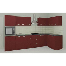Kube Stylish L Shape Modular Kitchen, Warranty: 1-5 Years