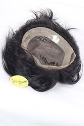 Ritzkart 10x7 Front Lace Hair Toupee/Patches/Systems/Wigs For Men 100% Natural Human Hair Black