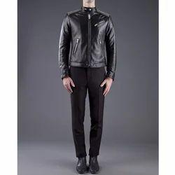 Black Men Designer Leather Jacket