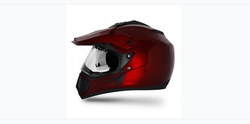 Off Road D V Burgundy Helmet