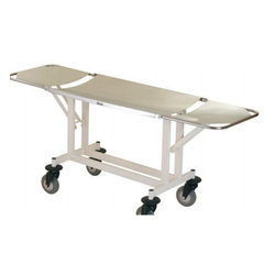 MS Hospital Folding Stretcher Trolley, Size: 6 feet (length)