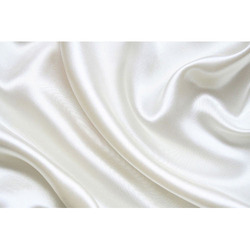 Plain Polyester White Satin Fabric for Garments