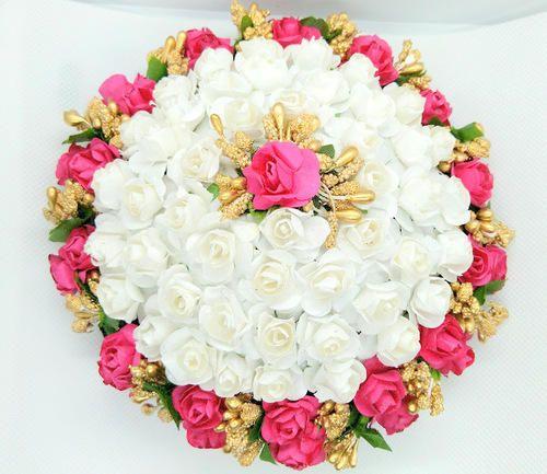 Mokshi Collections Artificial Flower Hair Juda Pack Size 1 Juda