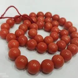Red Coral 11 mm Beads
