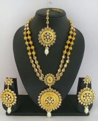 Only Lct Golden Wedding Long Set With Earring
