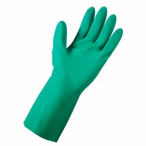Unisex Green Latex Gloves, for Hospitals