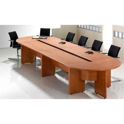 Wooden Office Conference Table Set