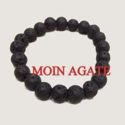Round Beads black Lava Stone Bracelet