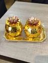 Decorative Metal Dry Fruit Jars For Wedding Gifts