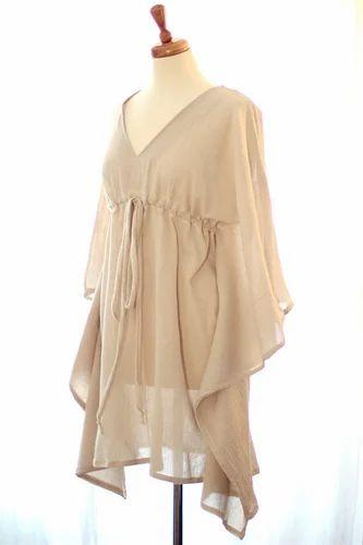 25d9ac4306d Cotton Gauze Beach Cover-up Caftan mini Dress with string, Beach ...