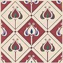 Minton Hollins Classical Baroque Burgundy Gloss Decor