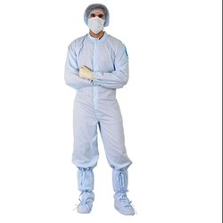Plain Polyester and Non Linting Dangri Coverall Clean Room