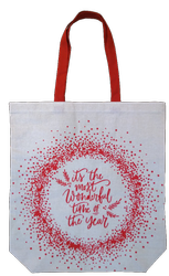Christmas Cotton Shopping Bag