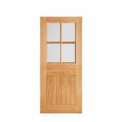 Brown Hardwood Door
