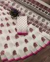 Heavy Printed Cotton Indian Wear Saree