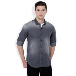 Casual Mens Double Shaded Shirt, Size: Medium