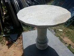 Chalapathy Granites Articals Kashmir White Granite Stone Single Pillar Table