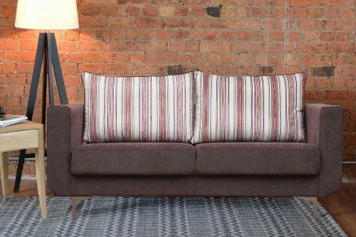 Cool Rio 3 Seater New Grey Fabric Sofa Machost Co Dining Chair Design Ideas Machostcouk