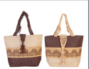 Macrame Handle With Wooden Beads Bag