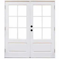 White Hinged Polished FRP Depressed Panel Door