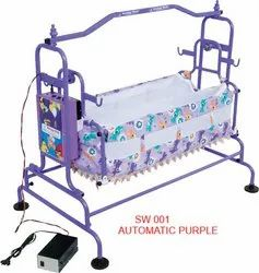 SW001 Automatic Purple Baby Cradle