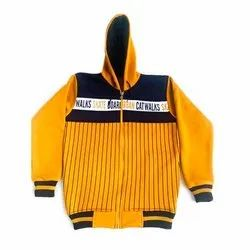 Woolen Yellow and Black Casual Mens Hoodies, Size: Free Size